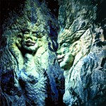 Sandstein Hölenfiguren 150 x 250 cm
