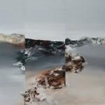 Grenzen setzen, 2012,Öl/Lw., 100 x 100 cm