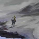 Bergsteiger 2014 Öl/Lw 100 x 90 cm
