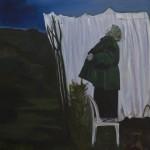 Frau auf einem Stuhl 2012 Acryl /Lw 100 x 110 cm