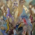 Tanz ums goldene Kalb Acryl auf Leinwand 2013