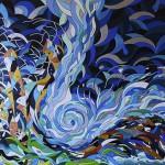 """""""Cosmic Wave III"""", 2013, 80 x 80 cm, Acryllack auf Leinwand"""