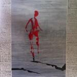 Der Weg ist das Ziel,2012 Acryl /Lw, 100x100cm