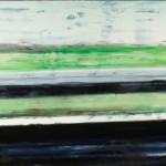 Verkehrstrenner, 2013, Öl auf Leinwand, 90 x 190 cm