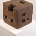 Würfel 1 - braun, 2003, Terracotta, h= 23 cm