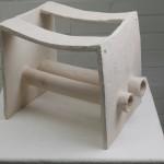 Doppelrohr, 2005, Terracotta, h=25 cm