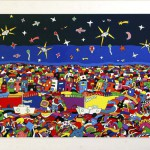 """Meet me at the small cafe"", 2004, 95 x 135 cm, Acryllack auf Trägerplatte"