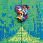 Seelenspiegel / Papier und Acryl auf Leinwand / 160 x 120 cm