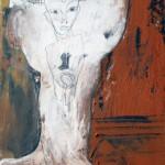 ICH TRAGE NACHT IN MIR . its all in me 2014 (mixed media - Erden, Öl, Grafit, LW 60x40cm)