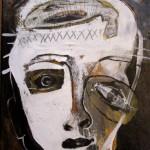 ICH TRAGE NACHT IN MIR . BLCKnWHITE 2015 (mixed media - Erden, Öl, Grafit, LW 60x40cm)