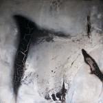 Leinwand_Marmormehl_Pigmente_Kohle_ Beize_Dispersionsbinder_160 x 160 cm