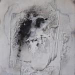 Marmormehl_ Sumpfkalk_Silikatkreide_Pigmente_Kohle_Leinwand_120 x 100 cm