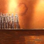 eingegrenzt - ausgegrenzt, 2014, Eisenreliefbild, 60 x 150 cm
