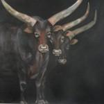 Watussi III, 2017, Öl/Lw., 140 x 130 cm