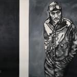 Gregory, 2016, Kohle/Acryl/Lw., 140 x 120 cm