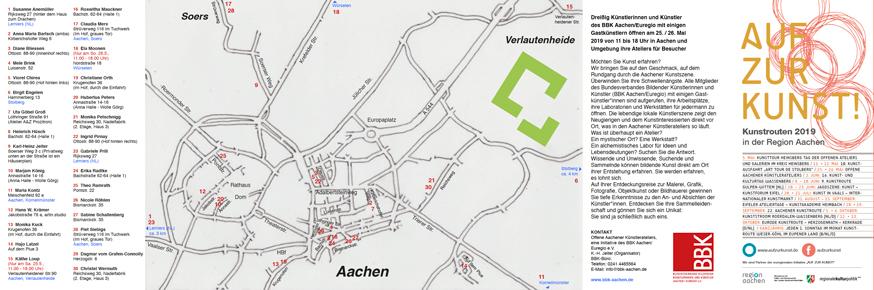 Flyer offene Aachener Künstlerateliers 2019